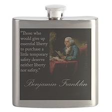 benjamin-franklin-quote-portrait Flask