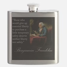 benjamin-franklin-quote-portrait Flask