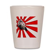 haga rising sun png Shot Glass