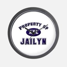 Property of jailyn Wall Clock