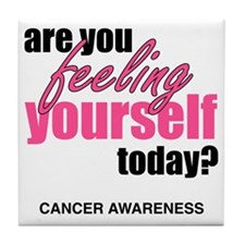cancer awareness Tile Coaster