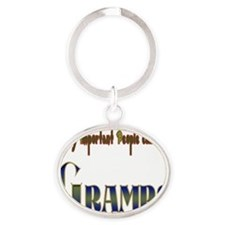 VERY IMPORTANT PEOPLE CALL ME GRAMPS Oval Keychain