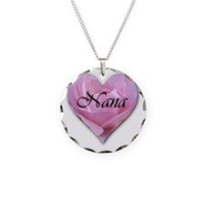 Nana Pink Rose Heart Necklace