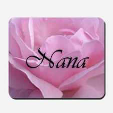 Nana Pink Rose Mousepad