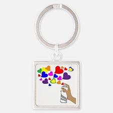Love Spray Square Keychain