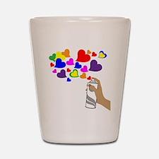 Love Spray Shot Glass