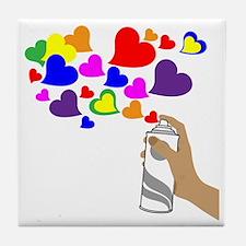 Love Spray Tile Coaster