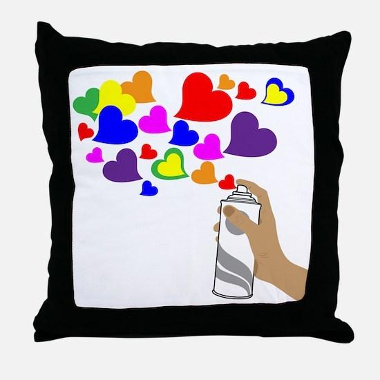 Love Spray Throw Pillow