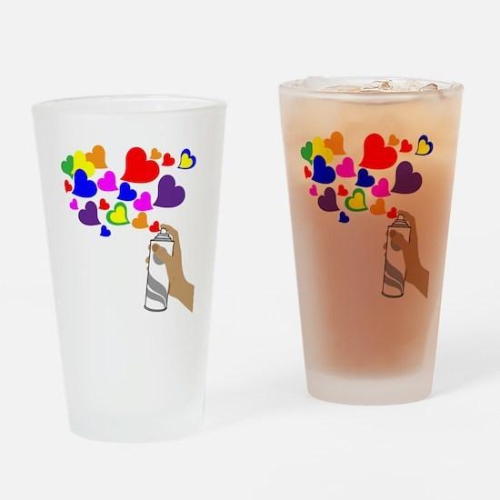 Love Spray Drinking Glass