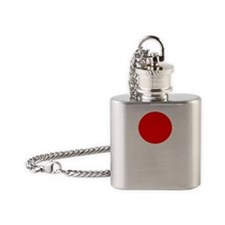 Hang in There Japan Ganbare Nippon  Flask Necklace