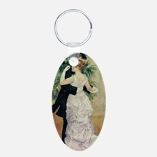 Dance in the City Aluminum Oval Keychain