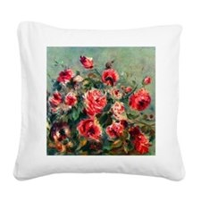 Roses of Vargemont Square Canvas Pillow