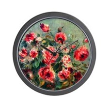 Roses of Vargemont Wall Clock