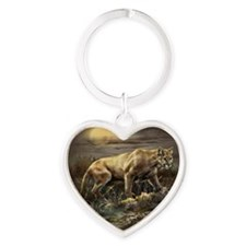ip000335_1cougar33333 Heart Keychain