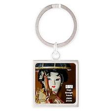 IMG_9194 Geisha 18x18 Square Keychain