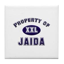 Property of jaida Tile Coaster