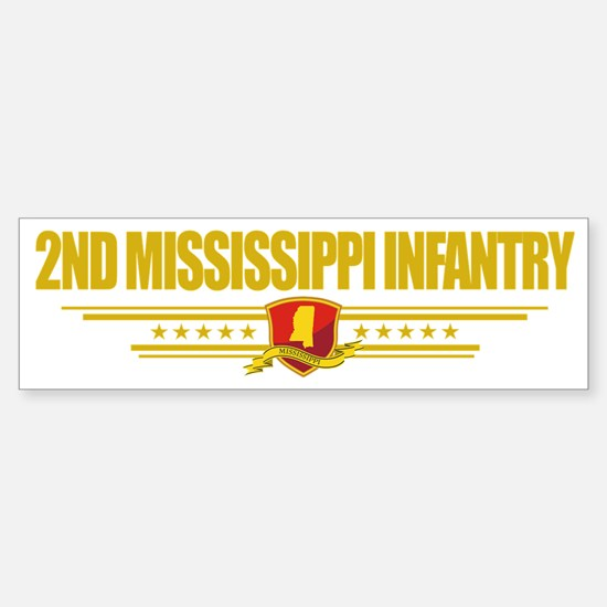 2nd Mississippi Infantry (Flag 10 Sticker (Bumper)