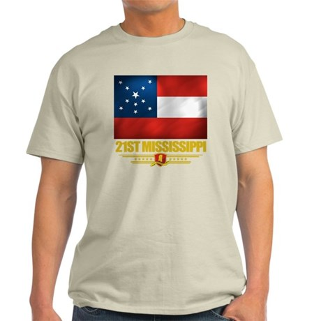 21st Mississippi Infantry (Flag 10) Light T-Shirt