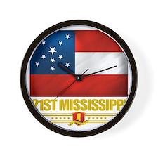 21st Mississippi Infantry (Flag 10) Wall Clock