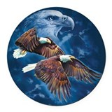 Eagle Round Car Magnets