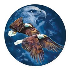 ip000662_1eagles3333 Round Car Magnet