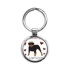 Rottweiler Round Keychain
