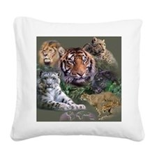ip001528catsbig cats3333 Square Canvas Pillow