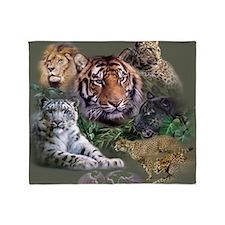 ip001528catsbig cats3333 Throw Blanket