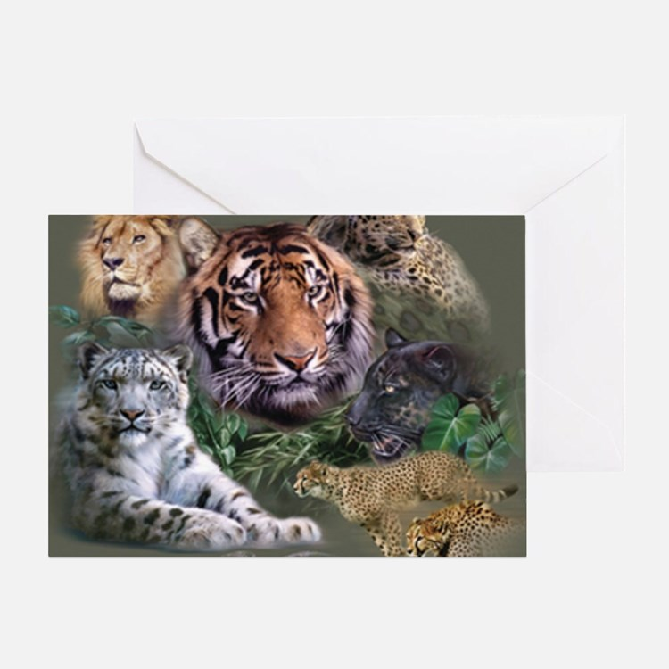 ip001528catsbig cats3333 Greeting Card