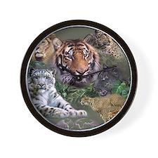 ip001528catsbig cats3333 Wall Clock