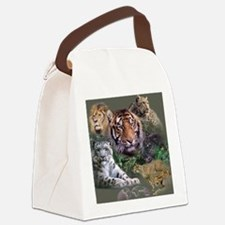 ip001528catsbig cats3333 Canvas Lunch Bag