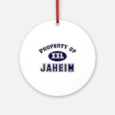 Property of jaheim Ornament (Round)