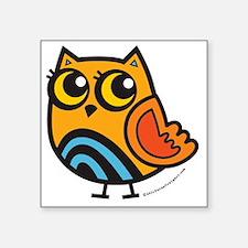 """Colorful Owl Square Sticker 3"""" x 3"""""""