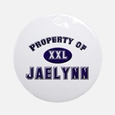 Property of jaelynn Ornament (Round)