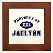 Property of jaelynn Framed Tile