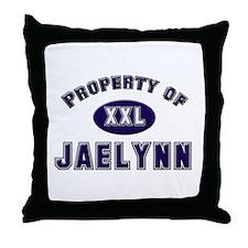 Property of jaelynn Throw Pillow