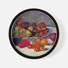 Still Life With Fruit Wall Clock