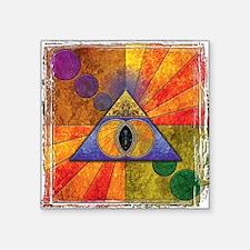 "Sacred Pyramid Square Sticker 3"" x 3"""