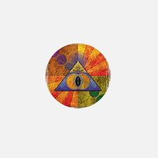 Sacred Pyramid Mini Button