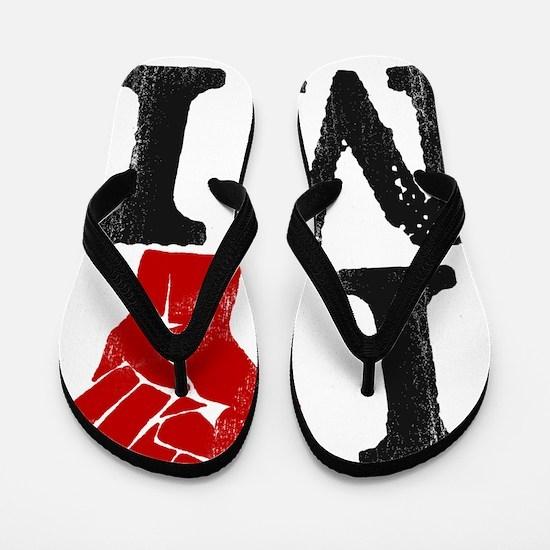 I-stand-MI Flip Flops