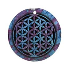 Flower Of Life Round Ornament