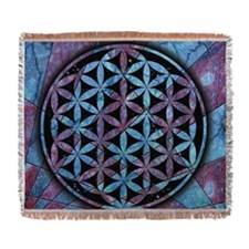 Flower Of Life Woven Blanket