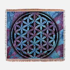 Flower Of Life Woven Blanket