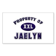 Property of jaelyn Rectangle Decal