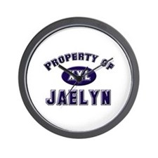 Property of jaelyn Wall Clock