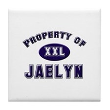 Property of jaelyn Tile Coaster