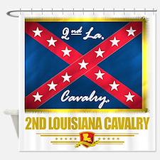 2nd Louisiana Cavalry (flag 10) Shower Curtain