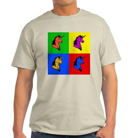 Pop Art Unicorn Ash Grey T-Shirt