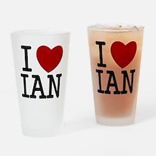 I Heart Ian Drinking Glass