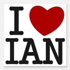 "I Heart Ian Square Car Magnet 3"" x 3"""